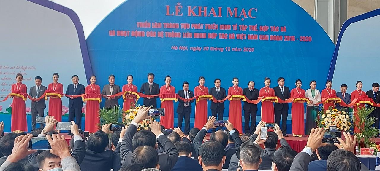 Phó Thủ tướng Chính phủ Trịnh Đình Dũng cắt băng khai mạc triển lãm