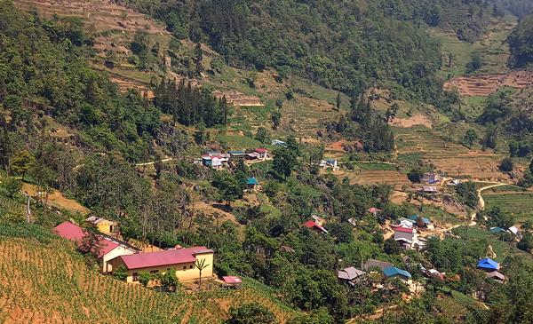 Bản làng bình yên tại vùng cao Sán Chải (Si Ma Cai).