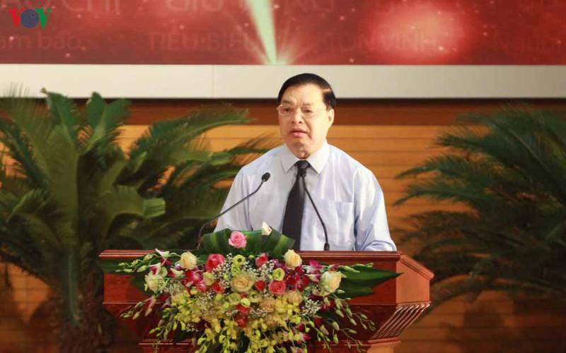 Ông Lê Mạnh Hùng, Phó Trưởng Ban Tuyên giáo Trung ương, Trưởng Ban tổ chức Hội nghị