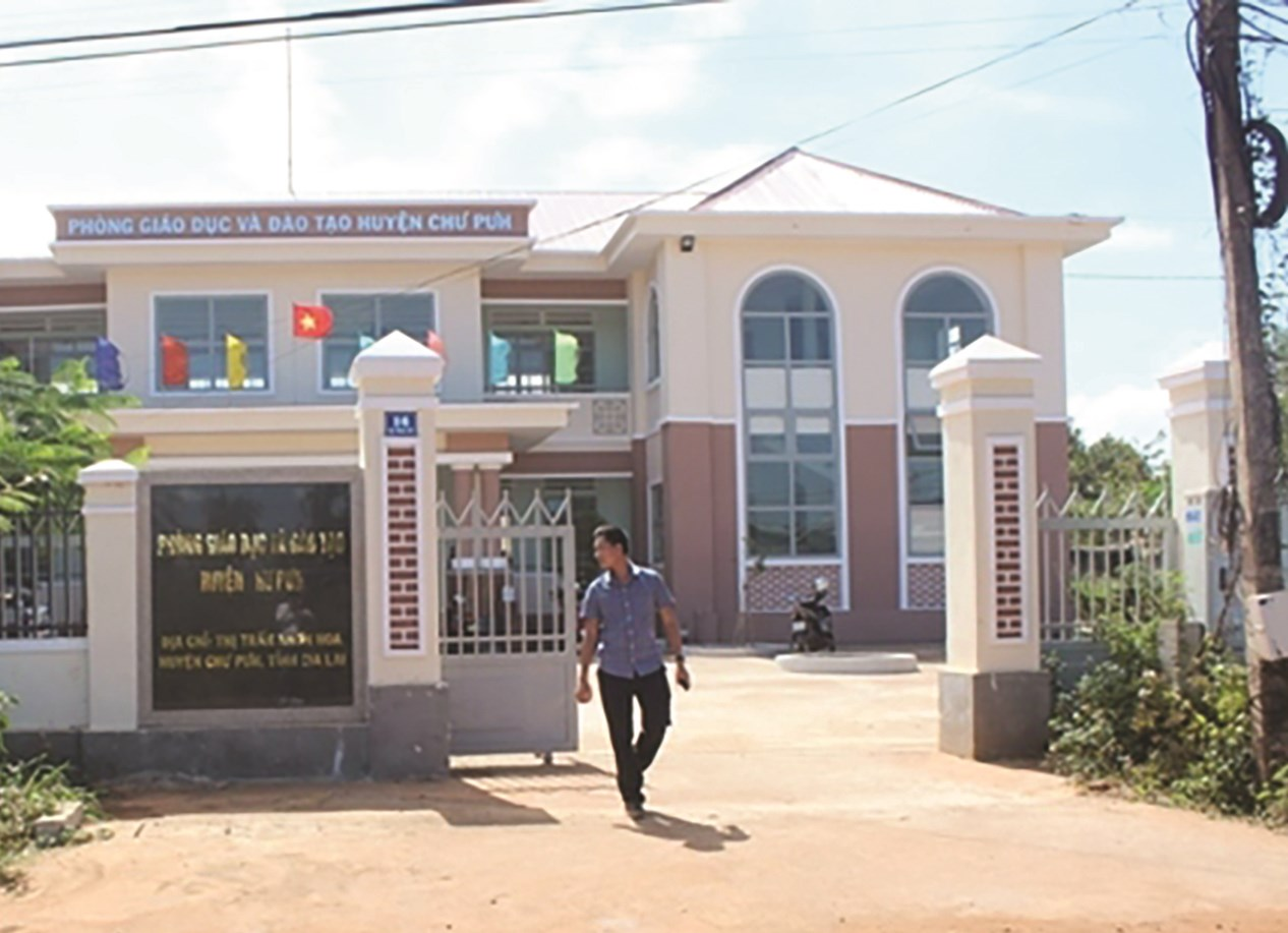 Phòng GD&ĐT huyện Chư Pưh nơi xảy ra sai phạm.