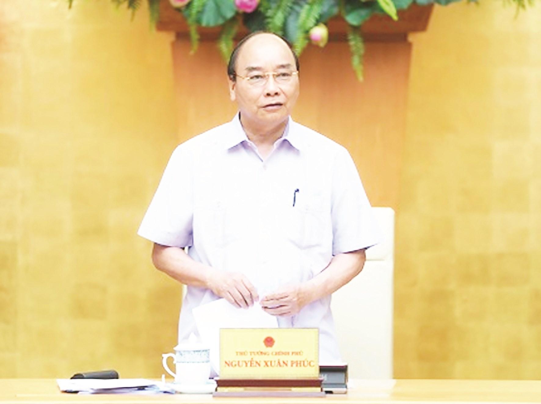 Thủ tướng Nguyễn Xuân Phúc chủ trì cuộc họp.