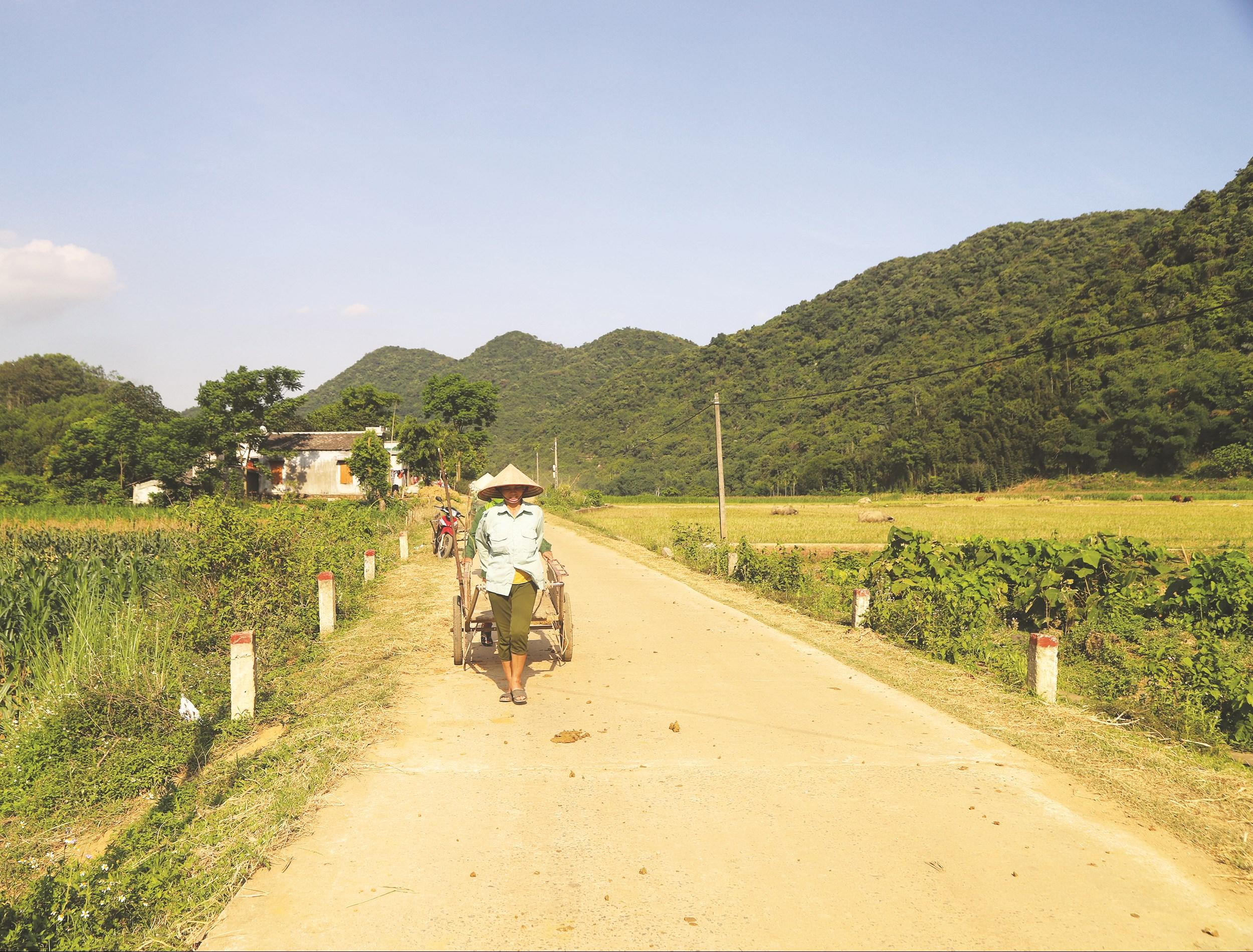 Đường giao thông nông thôn của thôn 6, xã Phú Long được xây dựng từ nguồn vốn Chương trình 135.