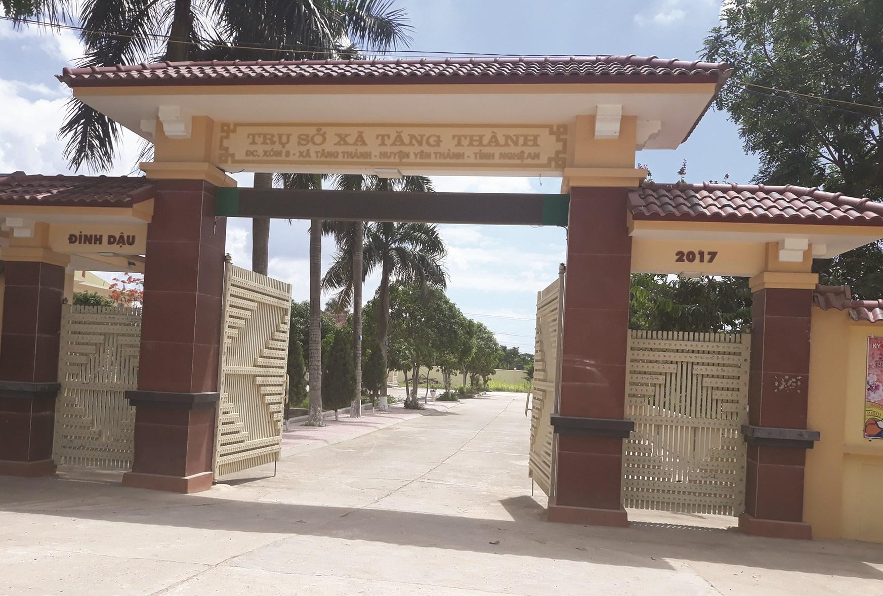 Trụ sở UBND xã Tăng Thành, nơi bà Vũ Thị Linh công tác