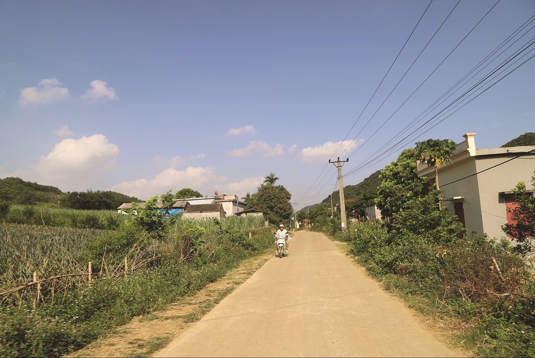 Đường giao thông nông thôn ở xã Phú Long được xây dựng từ Chương trình NTM