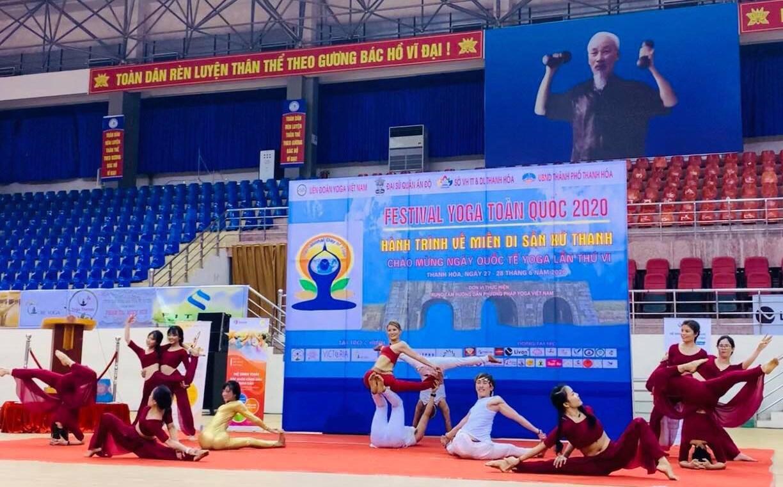 Tiết mục đặc sắc biểu diễn tại Festival Yoga toàn quốc năm 2020