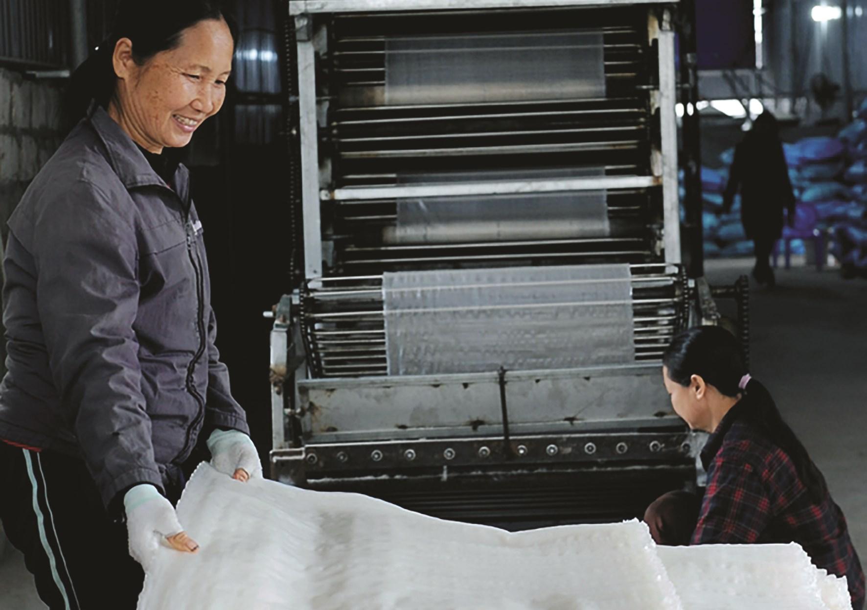 Xã Thái Thịnh hiện có làng nghề Tống Buồng, giải quyết việc làm cho hàng trăm lao động