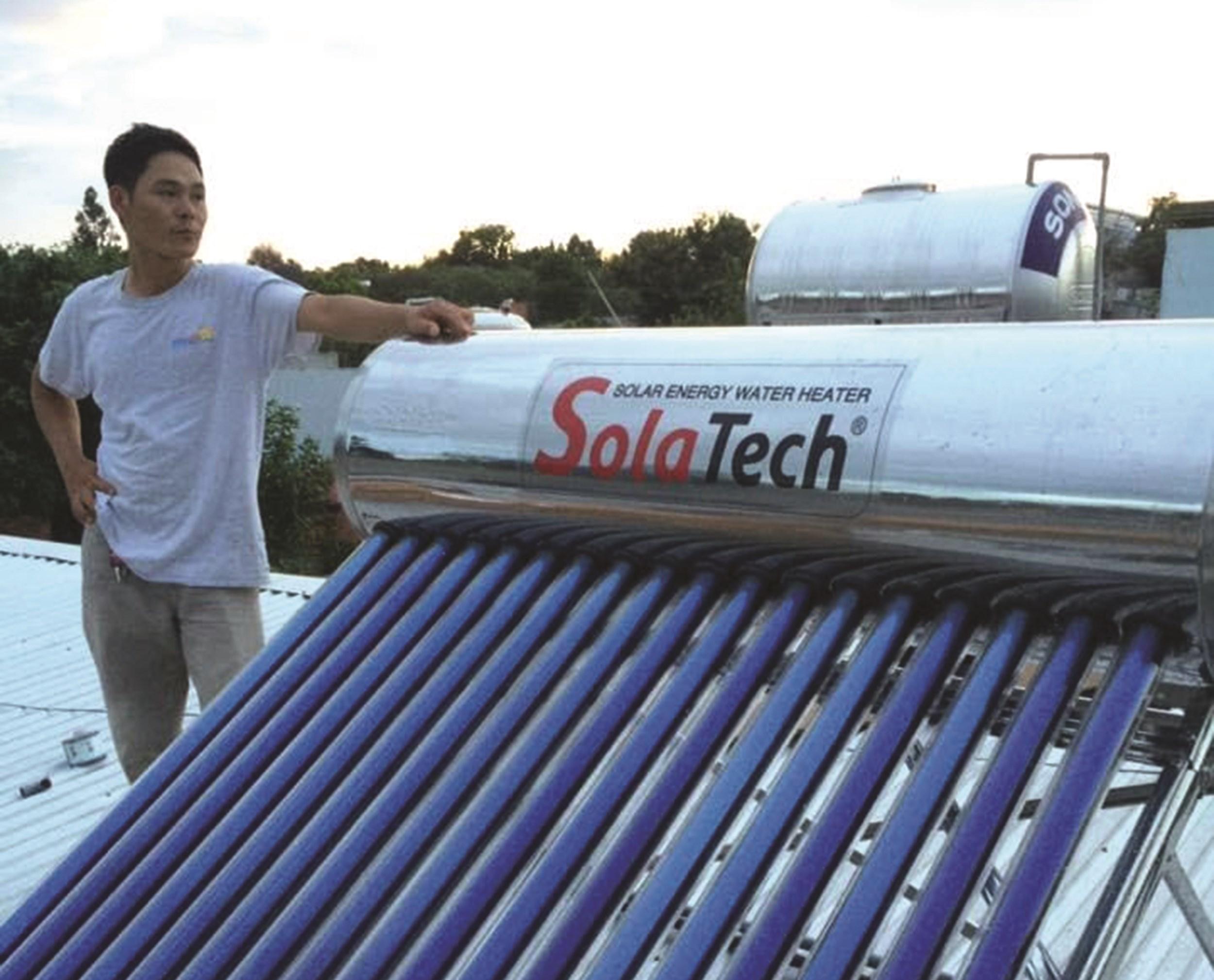 Năng lượng mặt trời ngày càng được người dân lựa chọn sử dụng.