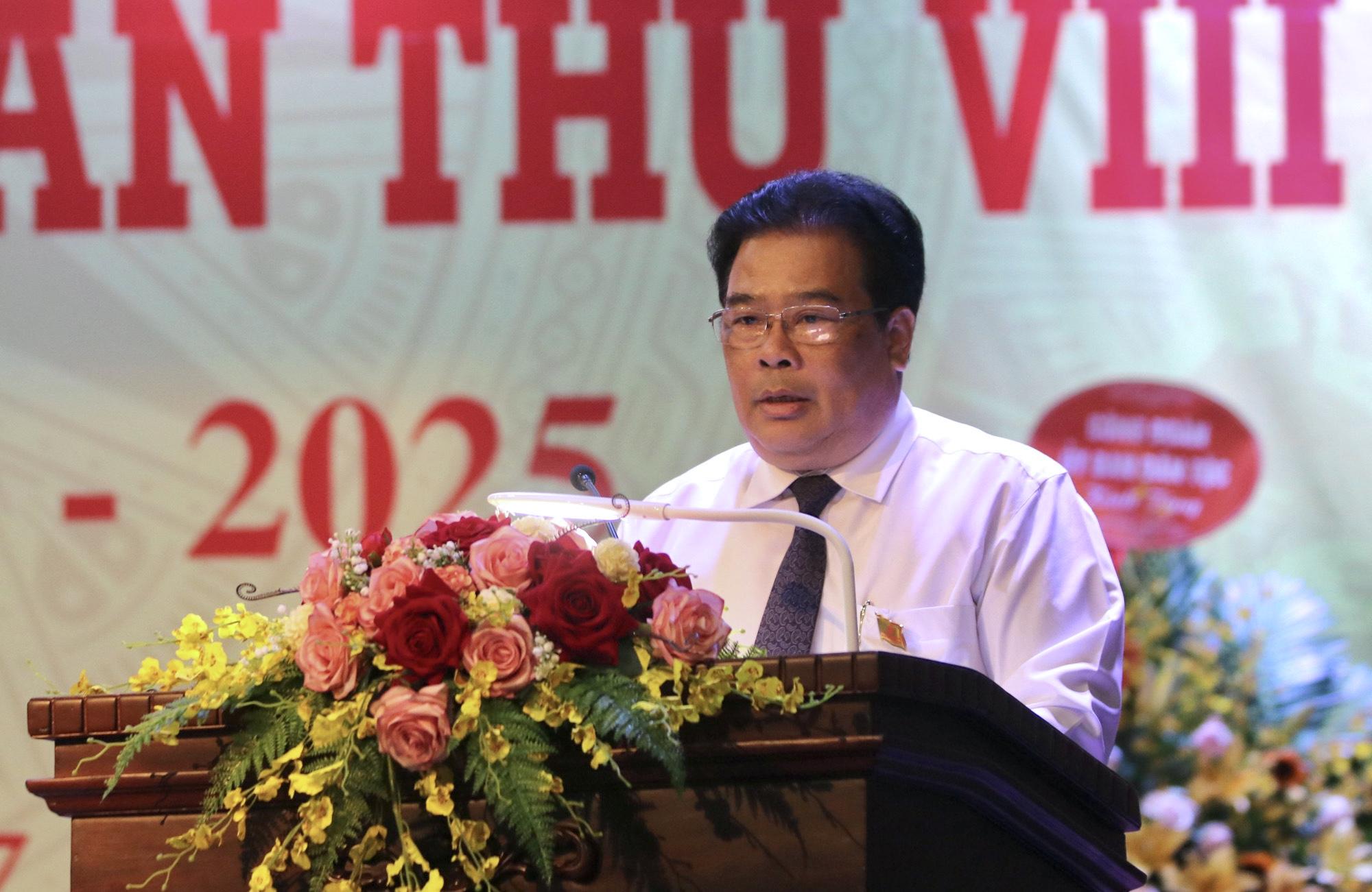 Bí thư Đảng ủy Khối các cơ quan Trung ương Sơn Minh Thắng phát biểu chỉ đạo Đại hội.