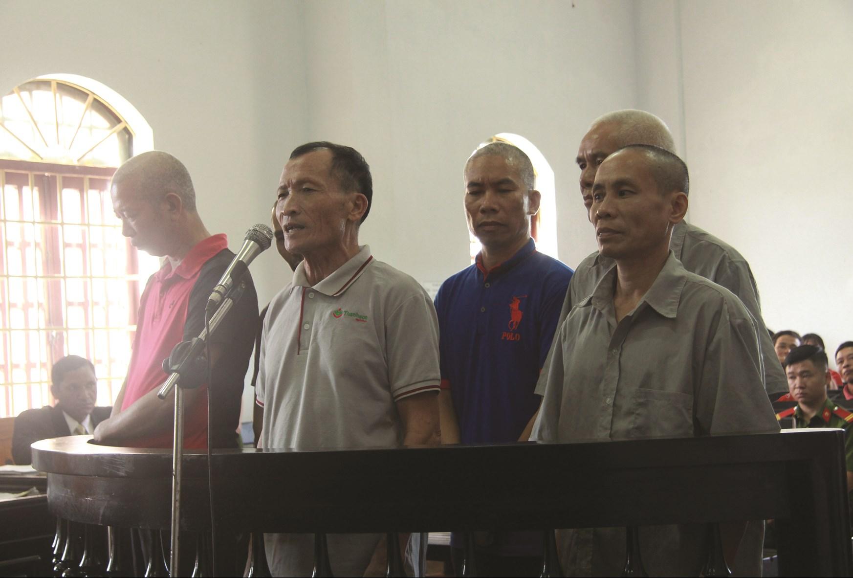 6 cựu chiến binh tại phiên tòa năm 2017