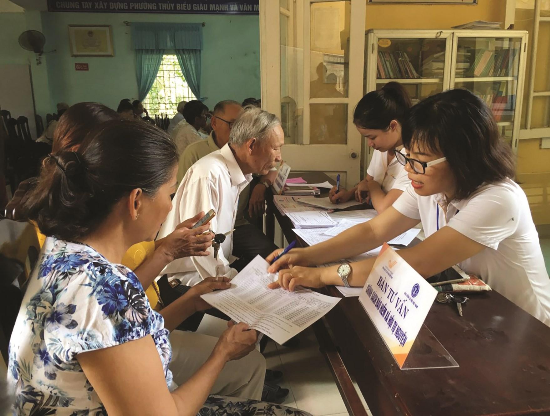 Tỷ lệ người dân tham gia BHXH tự nguyện ngày càng cao.