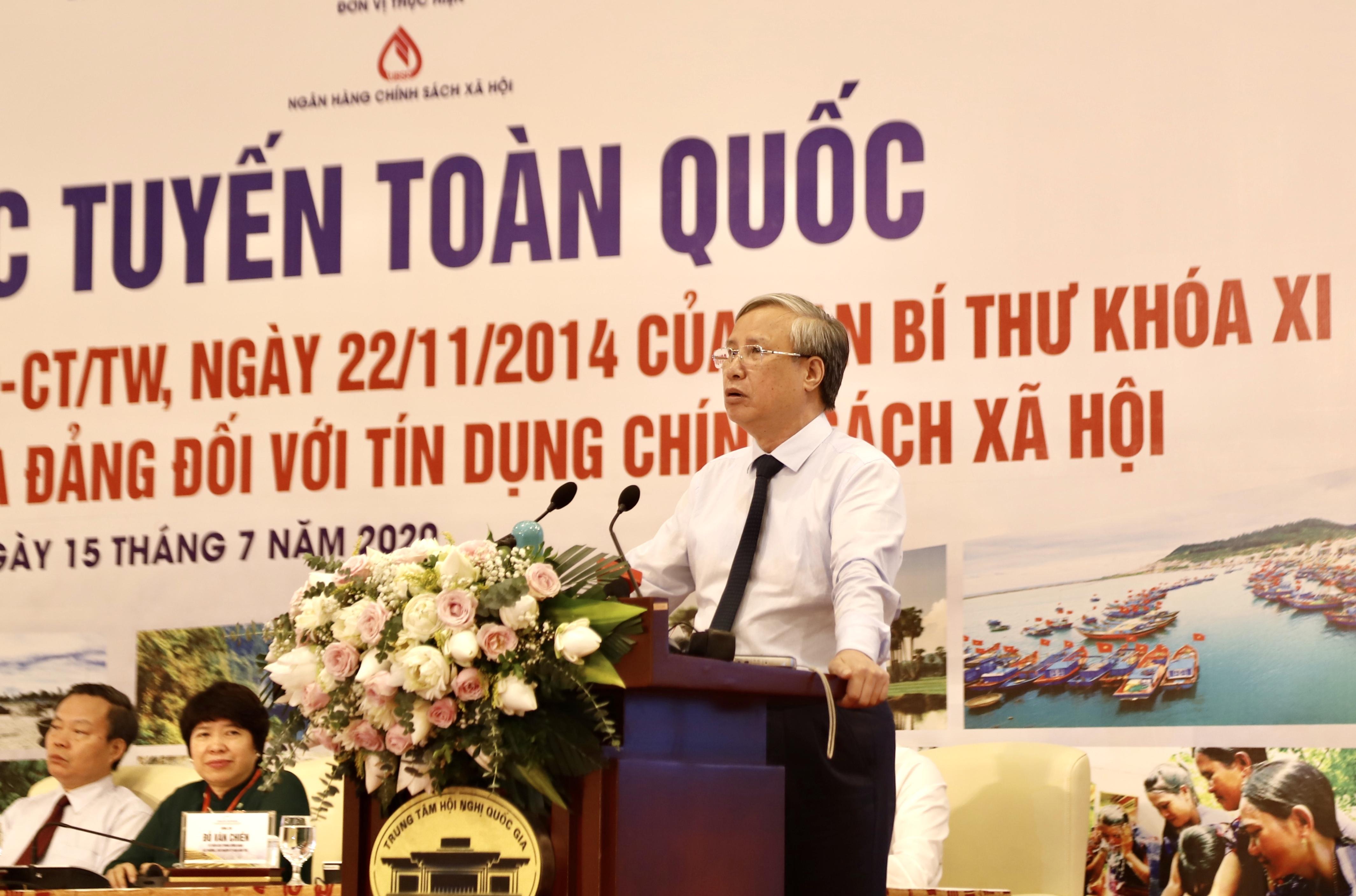 Ủy viên Bộ Chính trị, Thường trực Ban Bí thư Trần Quốc Vượng phát biểu chỉ đạo Hội nghị.