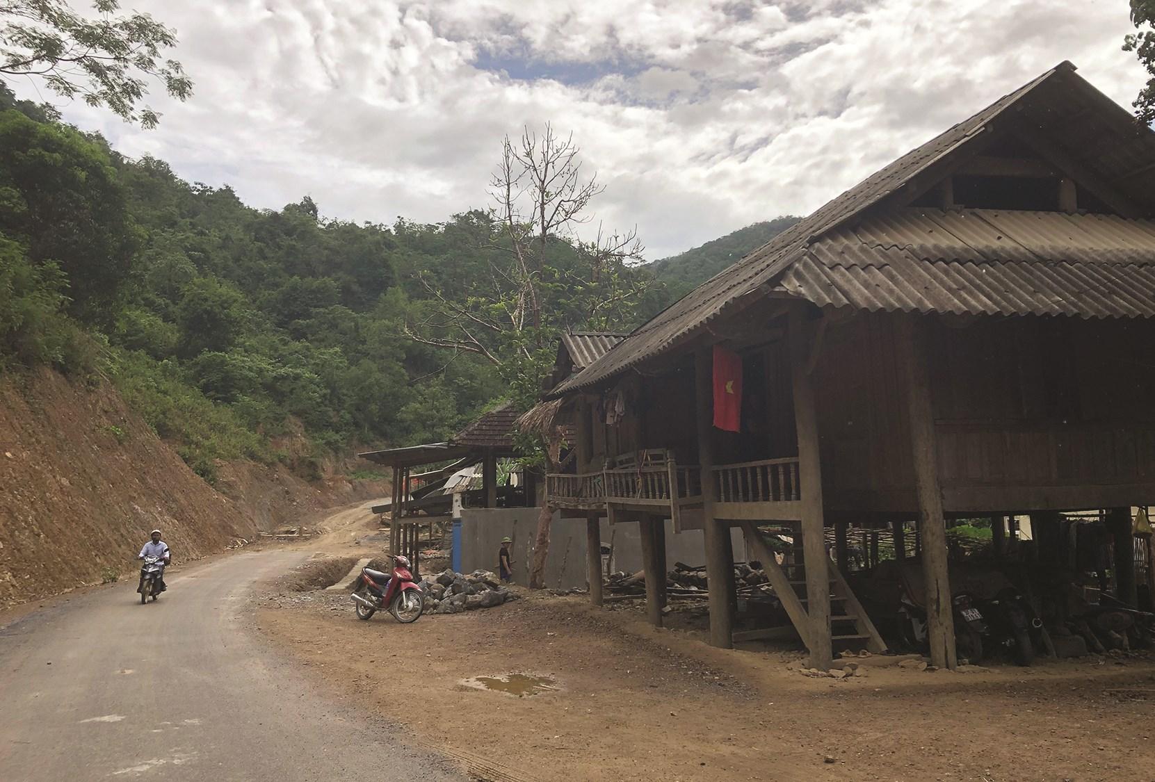 Một góc bản Đửa, xã Lượng Minh