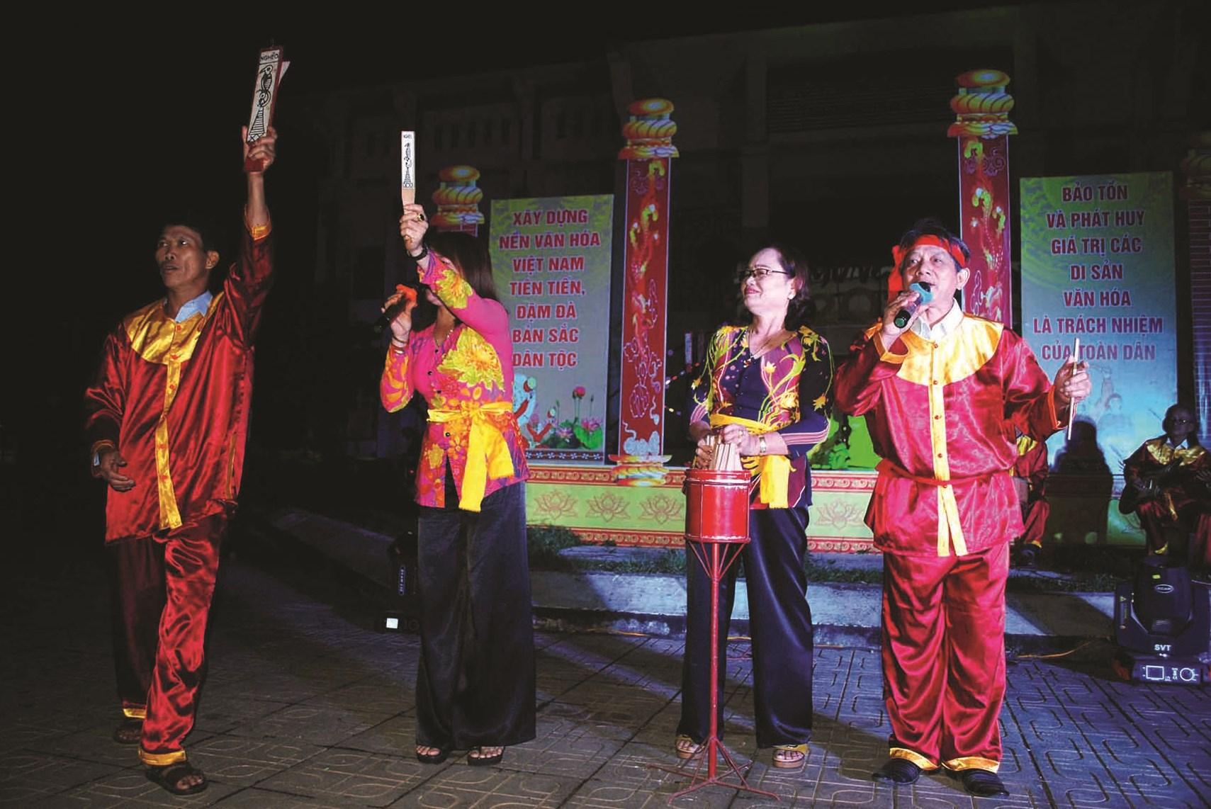 Bài Chòi được tổ chức ở vùng quê xã Tam Phước, huyện Phú Ninh (Quảng Nam)