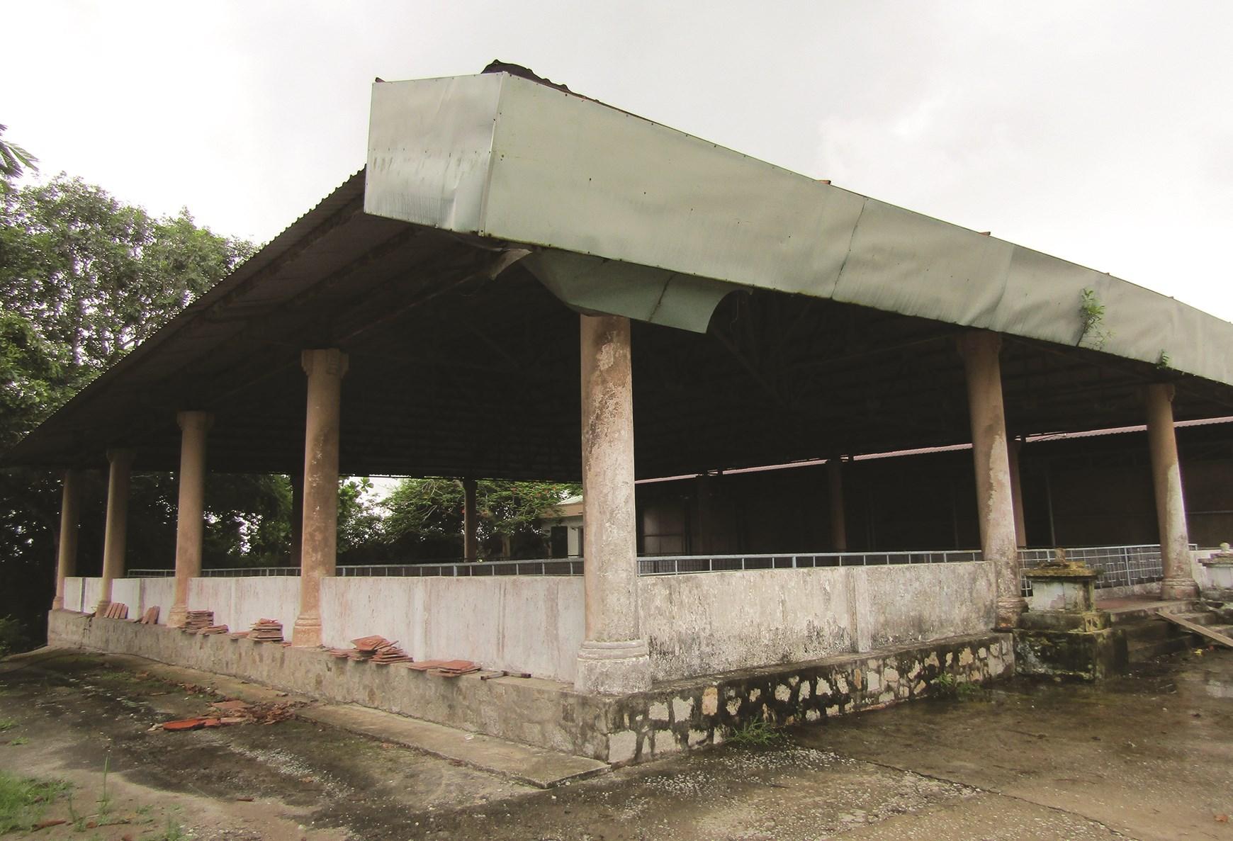 Khu chính trong KDT Gò Cây Thị đã bị xuống cấp trầm trọng