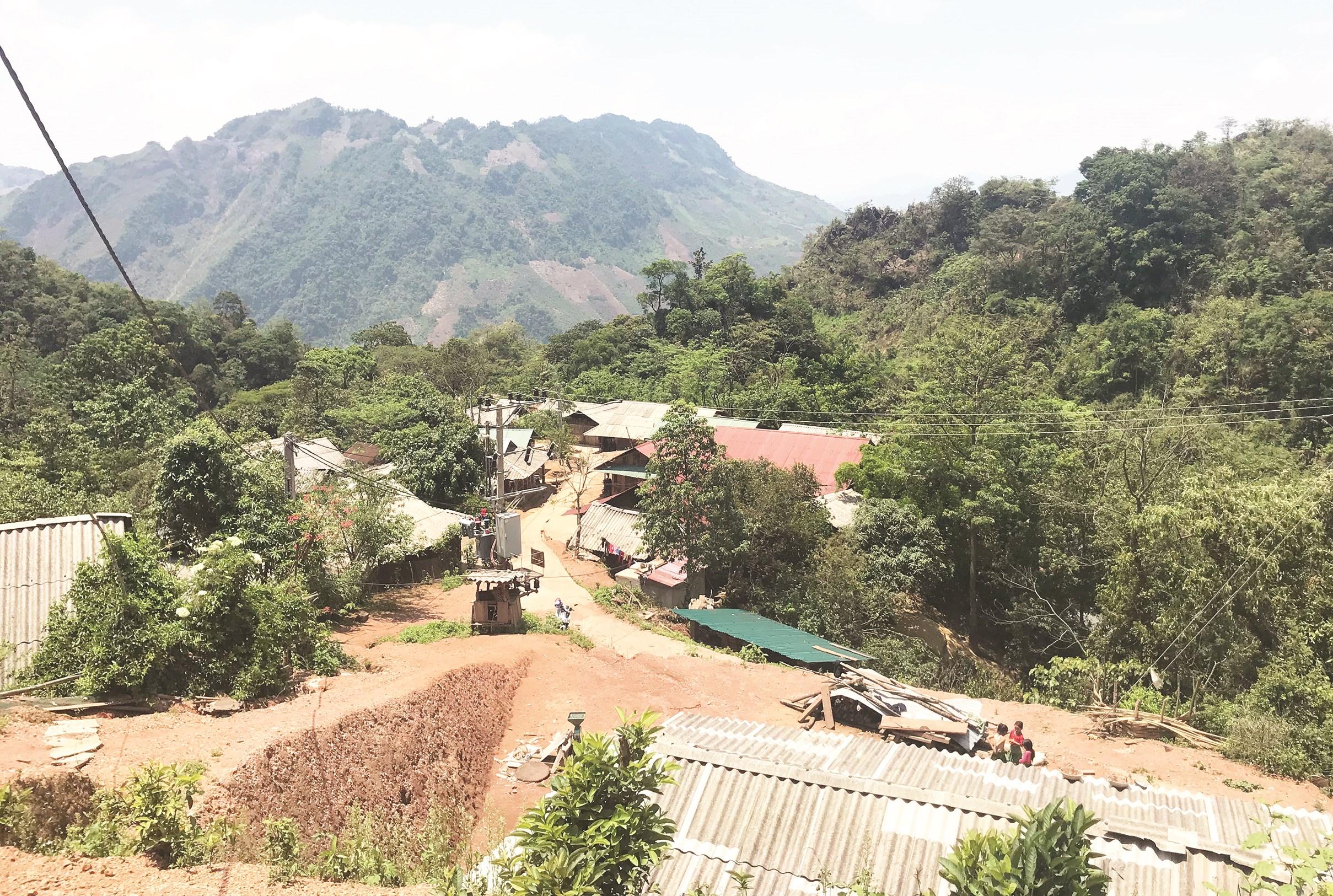 Một góc bản Ngài Chồ, xã Phìn Hồ, huyện Sìn Hồ (Lai Châu)