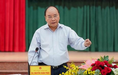 Thủ tướng Nguyễn Xuân Phúc phát biểu tại buổi làm việc với lãnh đạo chủ chốt tỉnh Đồng Nai.