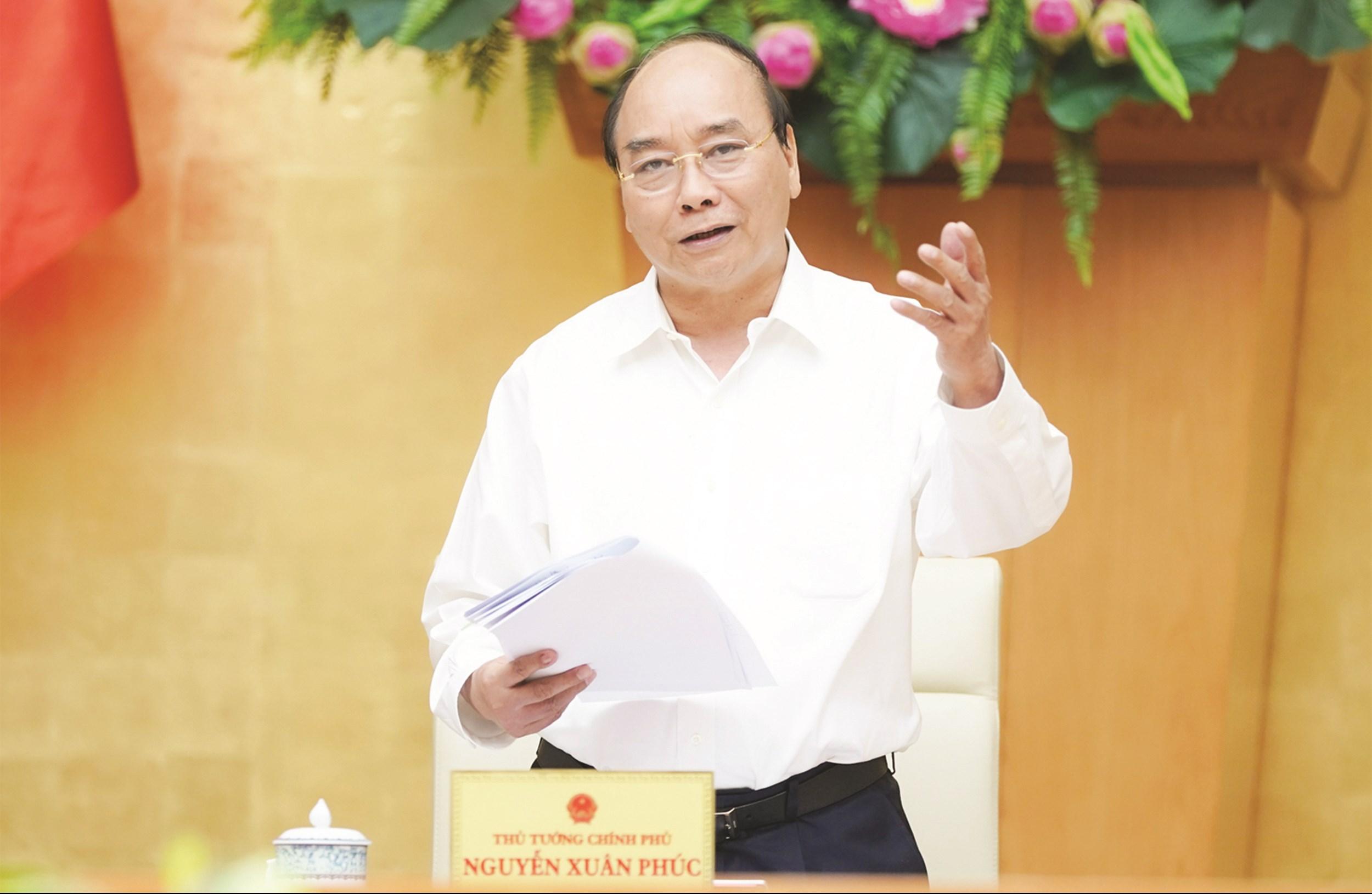Thủ tướng Chính phủ Nguyễn Xuân Phúc phát biểu tại buổi làm việc