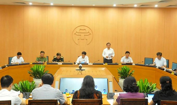 Cuộc họp của Ban Chỉ đạo phòng, chống dịch COVID -19 của TP Hà Nội