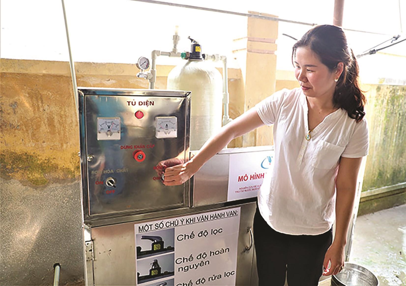 Công trình xử lý nước tại Trường Mầm non Hảo Nghĩa, huyện Na Rì, tỉnh Bắc Kạn