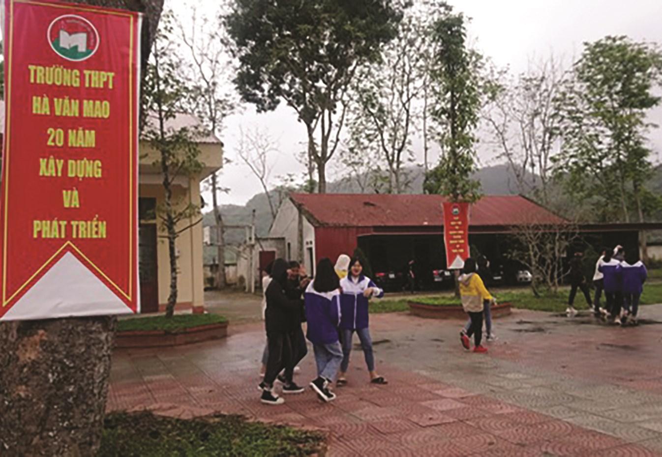 Trường THPT Hà Văn Mao năm nay thiếu 27 chỉ tiêu vào lớp 10.