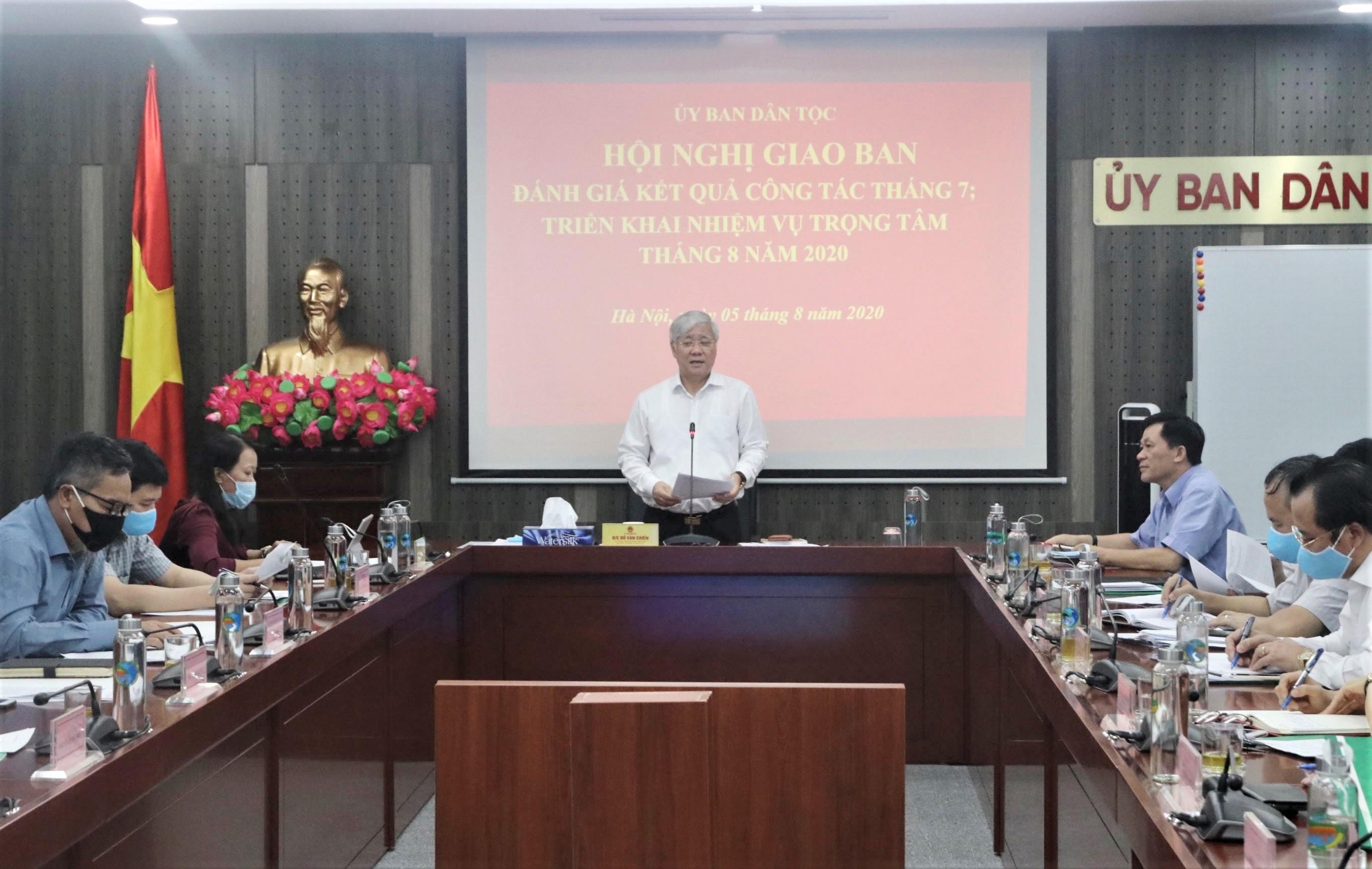 Bộ trưởng, Chủ nhiệm Ủy ban Dân tộc Đỗ Văn Chiến chủ trì cuộc họp