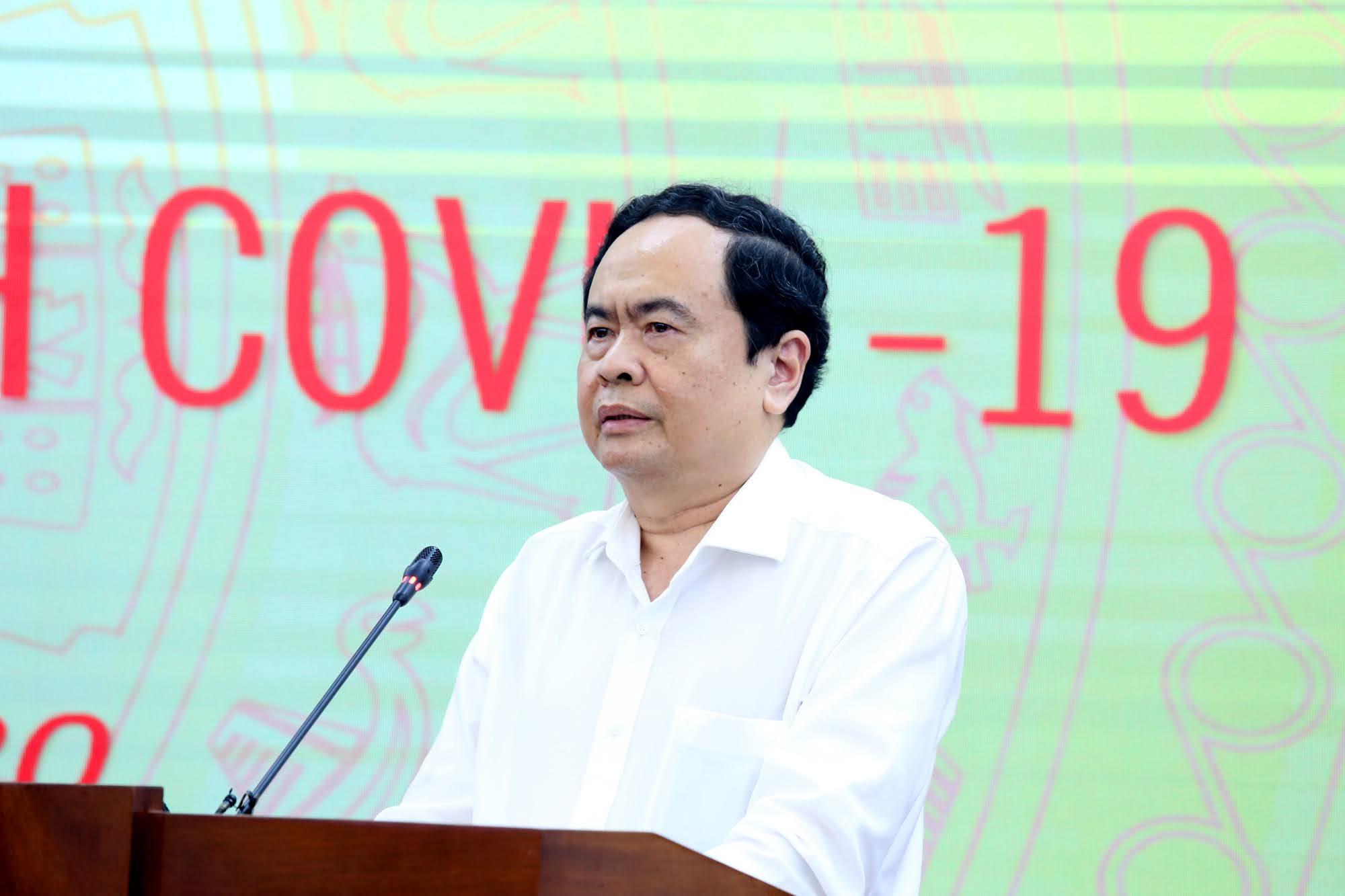 Chủ tịch Ủy ban Trung ương MTTQ Việt Nam Trần Thanh Mẫn phát biểu. Ảnh: VGP/Nguyễn Hoàng