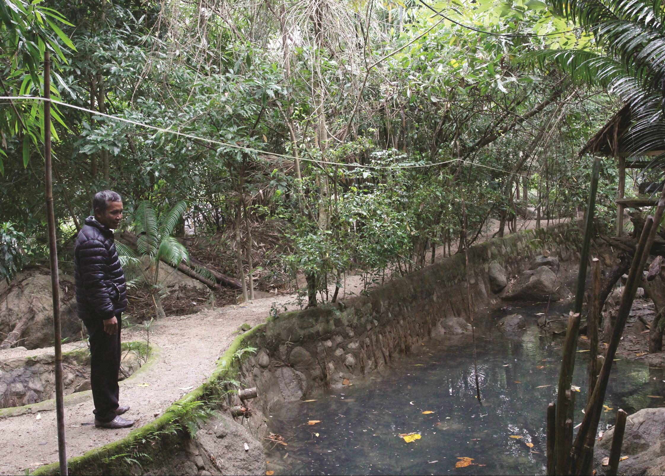 Một góc của khu du lịch sinh thái Mà Giá