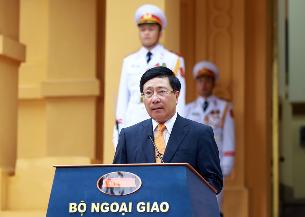 Phó Thủ tướng, Bộ trưởng Bộ Ngoại giao Phạm Bình Minh phát biểu tại buổi lễ - Ảnh: VGP/Hải Minh