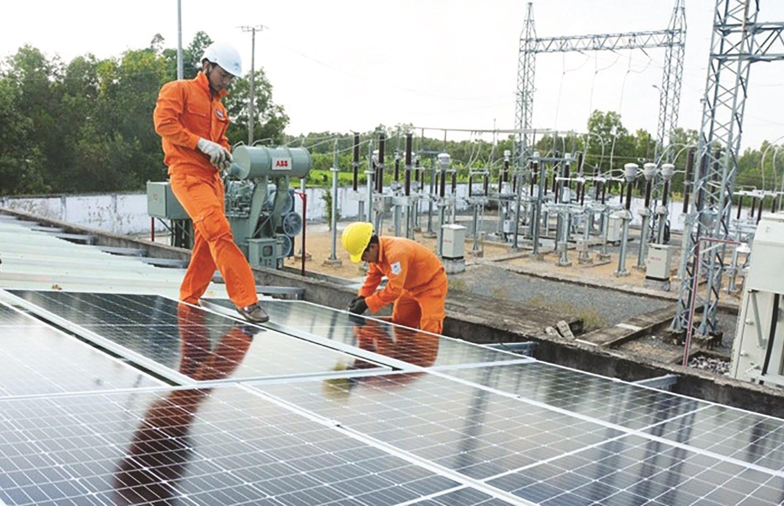 Hệ thống ĐMTMN tại điện lực huyện Trần Văn Thời (Cà Mau)