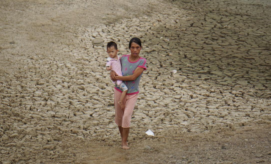 Hồ Mậu Lâm - nguồn cung cấp nước tưới cho hàng trăm ha lúa của Như Thanh trơ đáy, nứt toác