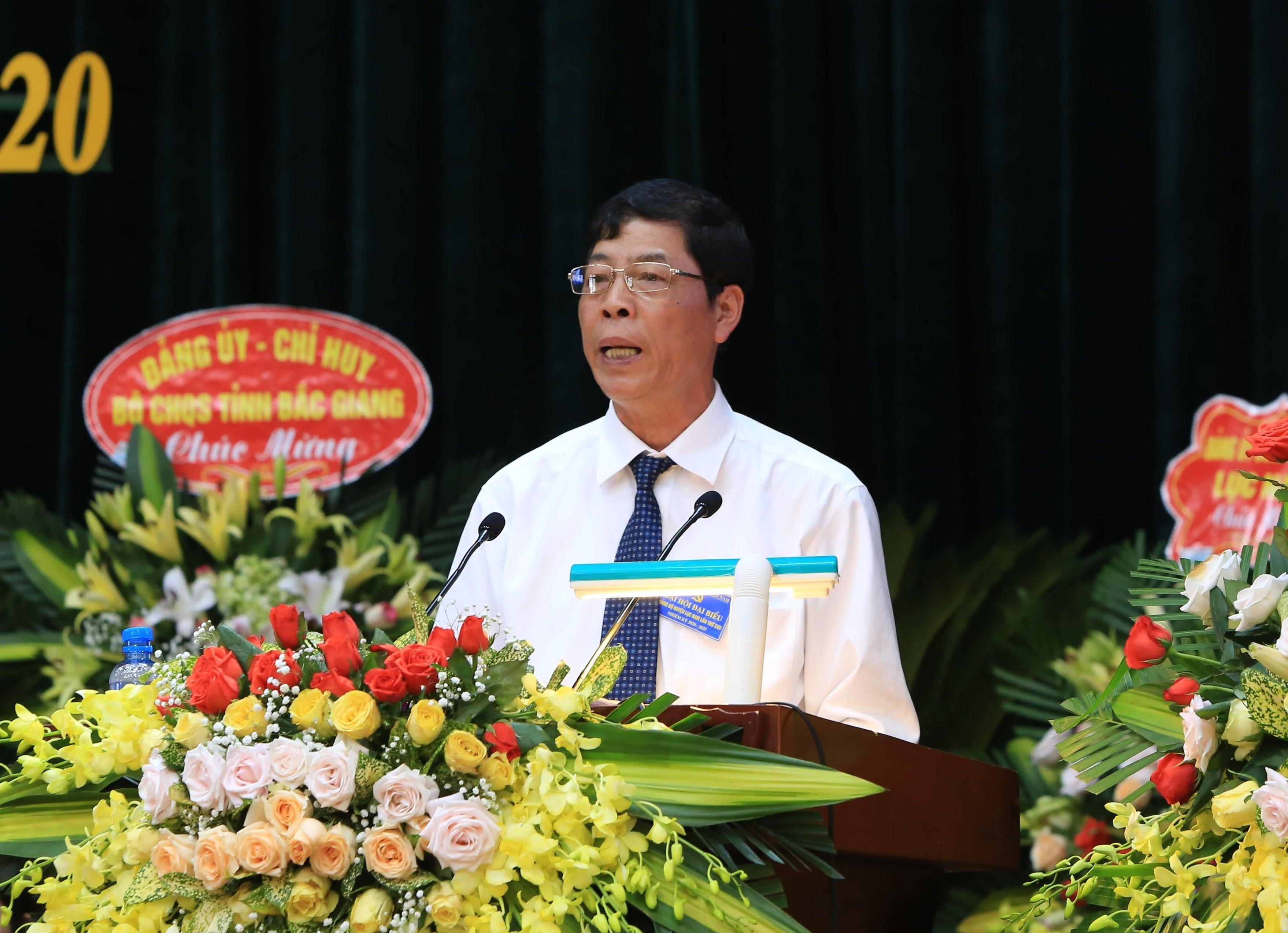 Đồng chí Bùi Văn Hải- Bí thư Tỉnh ủy tỉnh Bắc Giang phát biểu chỉ đạo Đại hội