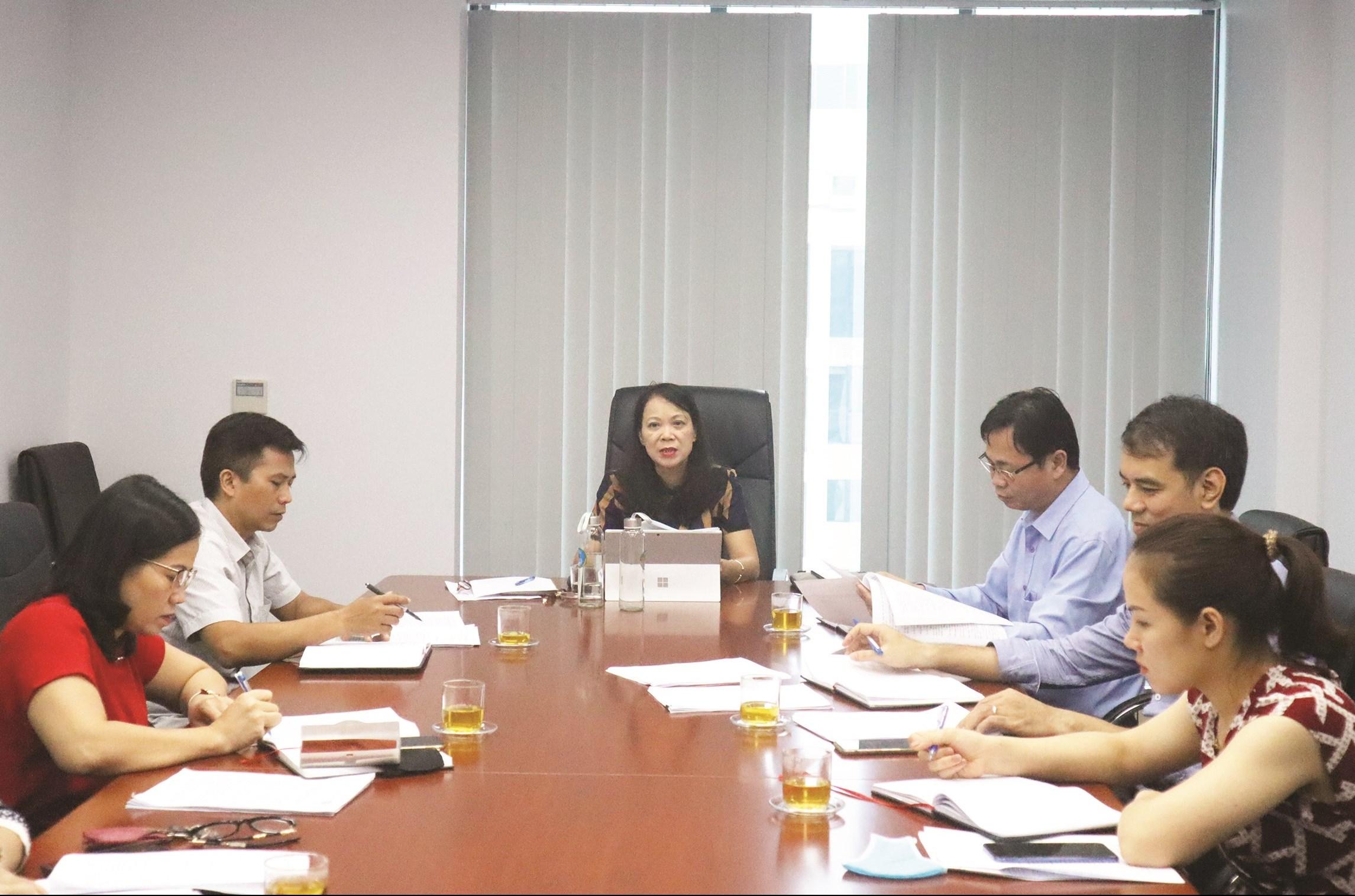 Thứ trưởng, Phó Chủ nhiệm UBDT Hoàng Thị Hạnh phát biểu tại buổi làm việc