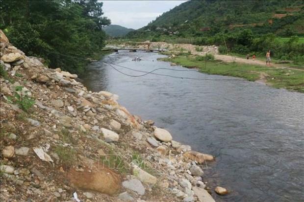 Dòng sông Nậm Piệt. Ảnh: Nguyễn Oanh - TTXVN