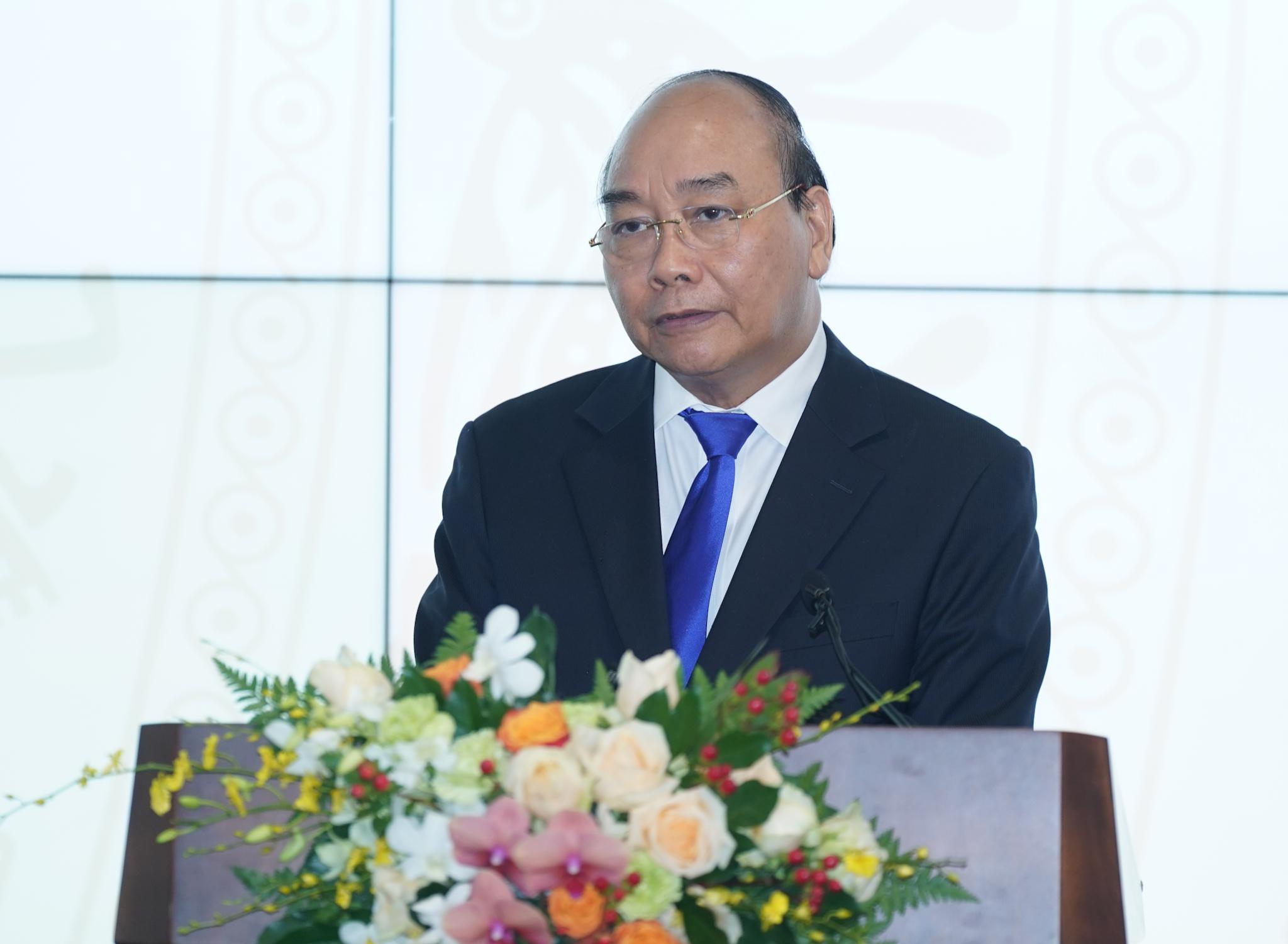Thủ tướng Nguyễn Xuân Phúc phát biểu tại lễ khai trương - Ảnh: VGP/Quang Hiếu