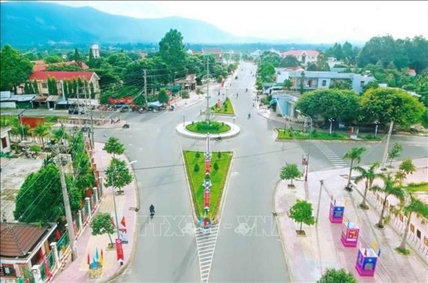 Diện mạo trung tâm huyện Krông Bông ngày nay. Ảnh: TTXVN