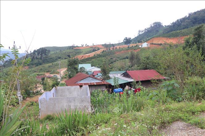 Làng Tu Thó xã Tê Xăng huyện Tu Mơ Rông nằm trong vùng sạt lở cần di dời.