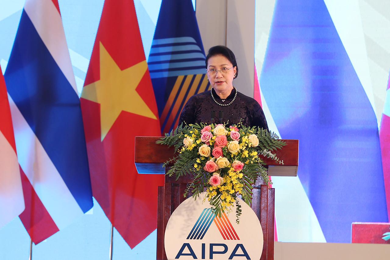 Chủ tịch Quốc hội Nguyễn Thị Kim Ngân phát biểu bế mạc Đại hội đồng AIPA 41.