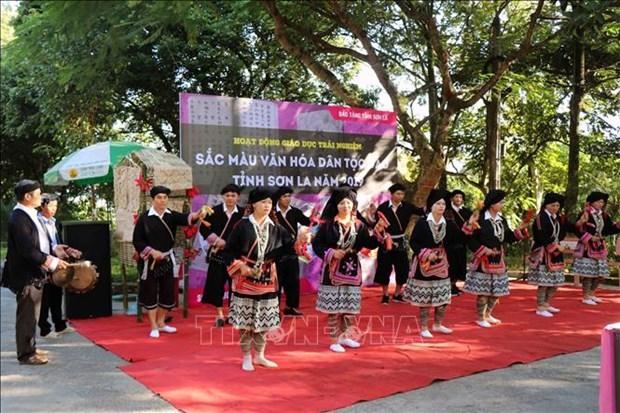 Màn trình diễn văn nghệ múa chuông của đồng bào dân tộc Dao tiền tại bản Suối Lìn, xã Vân Hồ, huyện Vân Hồ (tỉnh Sơn La).