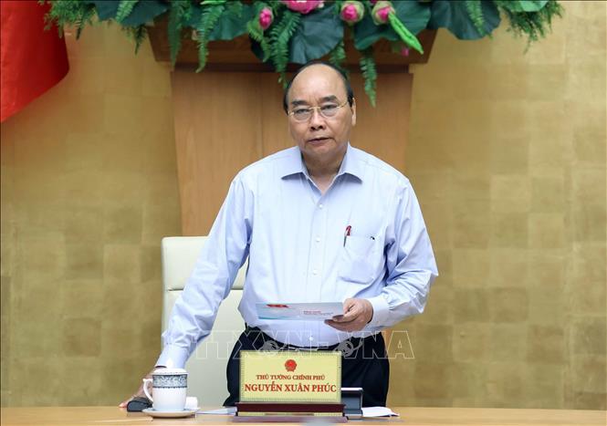 Thủ tướng Nguyễn Xuân Phúc phát biểu. Ảnh: Thống Nhất/TTXVN