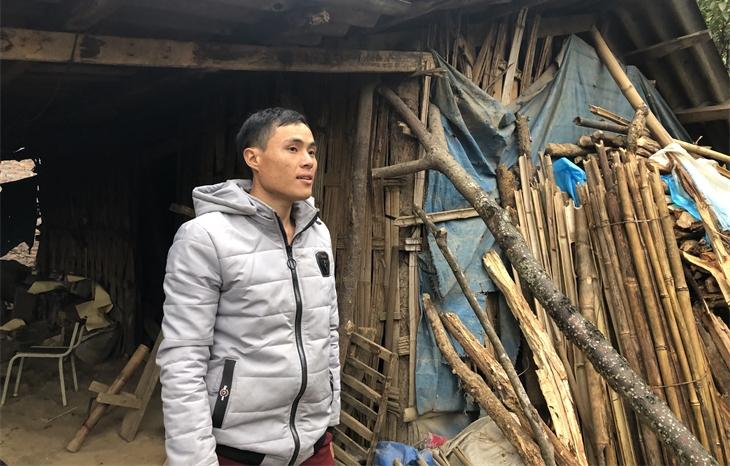 Anh Phùng Láo Lù tại xã Nậm Chạc, huyện Bát Xát, tỉnh Lào Cai. Ảnh: Thụy Văn