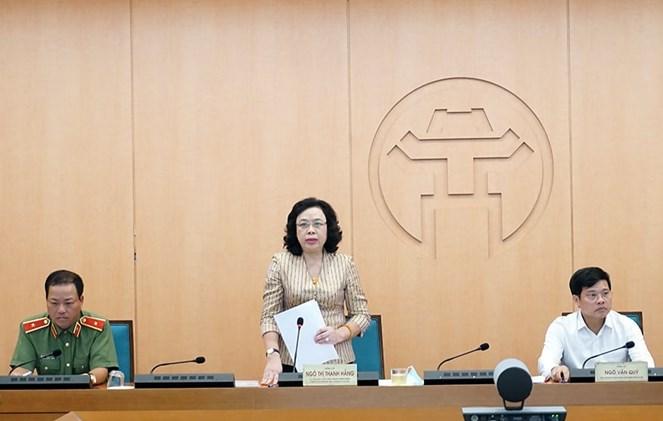 Đồng chí Ngô Thị Thanh Hằng, Ủy viên Trung ương Đảng, Phó Bí thư Thường trực Thành ủy phát biểu chỉ đạo phiên họp