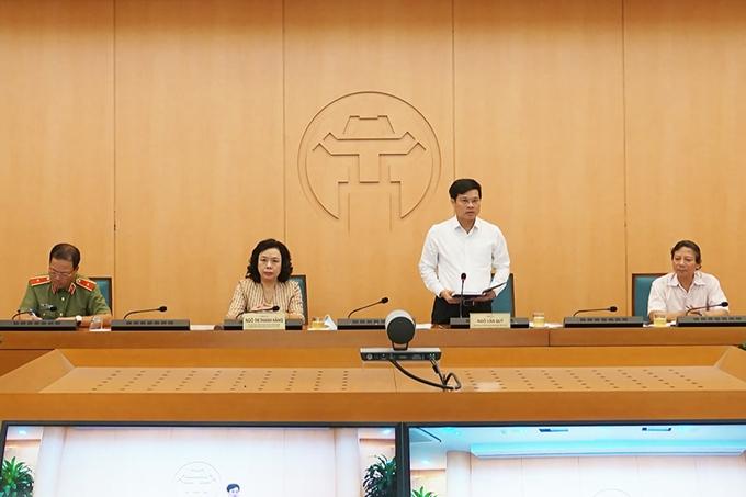 Phó Chủ tịch UBND TP Ngô Văn Quý phát biểu kết luận cuộc họp