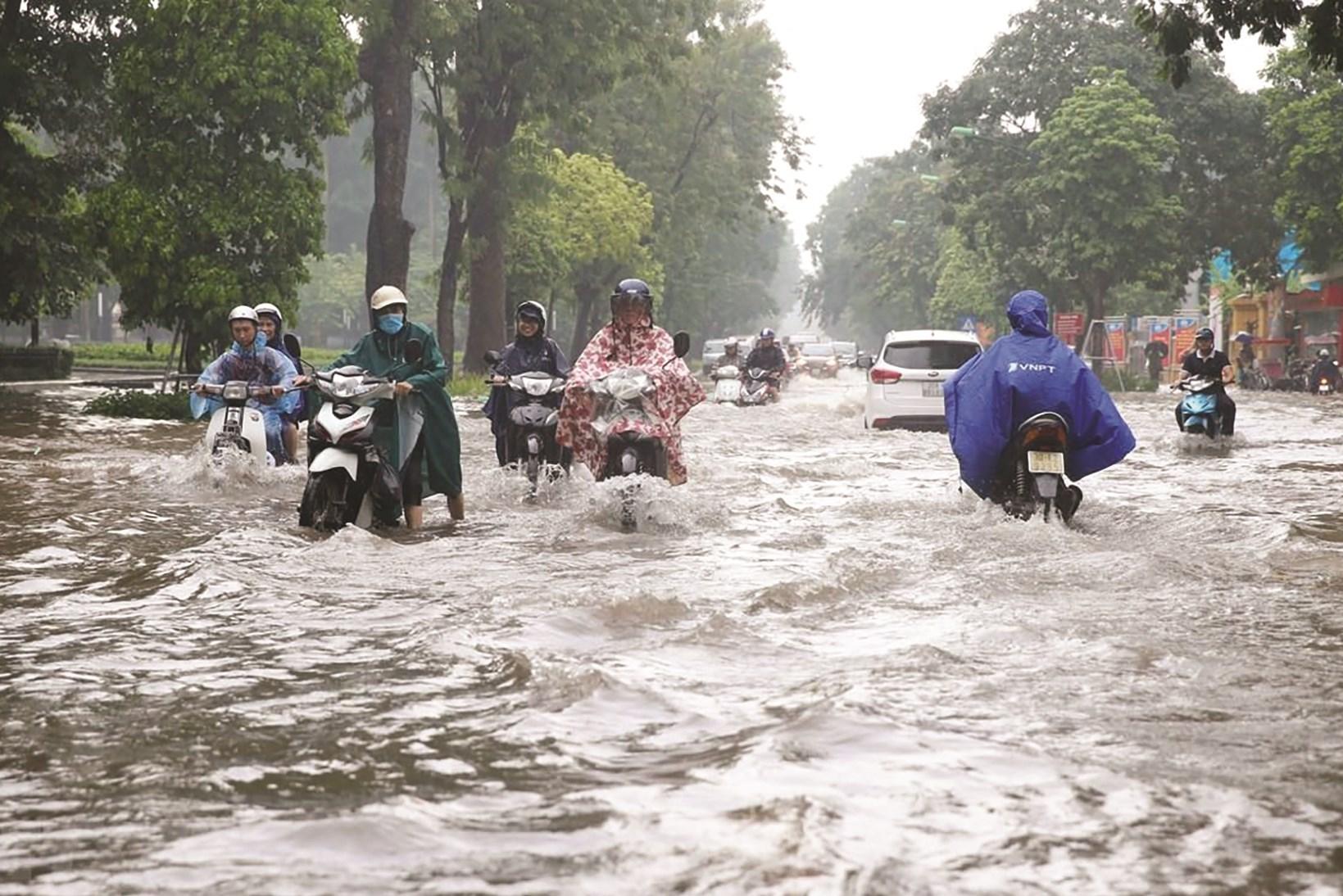 Ngập lụt ở các đô thị khu vực đồng bằng