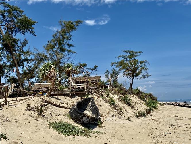 Sạt lở bờ biển làm ảnh hưởng lớn đến cuộc sống của nhiều người dân.
