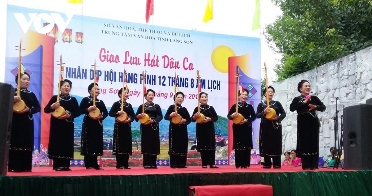 Trung tâm Văn hóa tỉnh Lạng Sơn tổ chức sân khấu để các dân tộc giao lưu dân ca