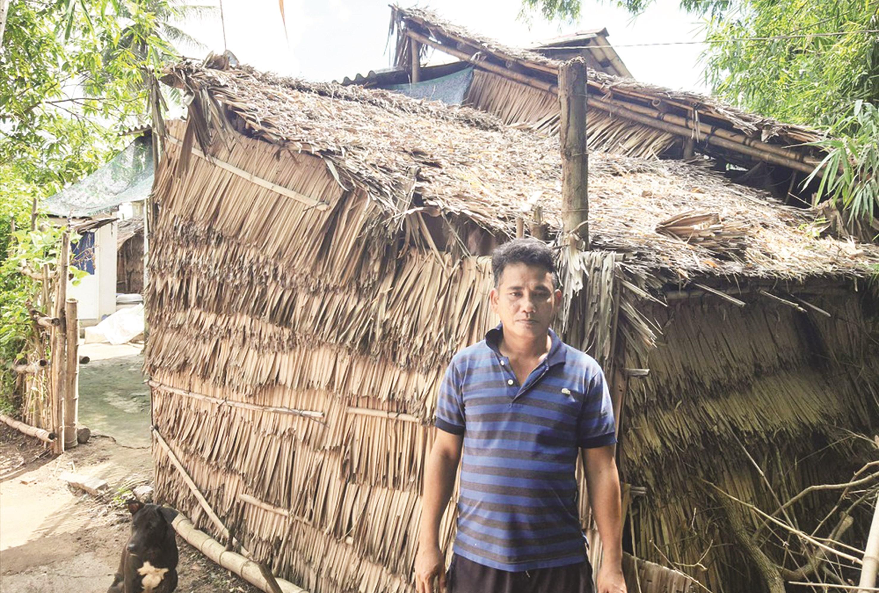 Ông Thạch Mỹ ngụ tại ấp Sóc Chà B, xã Thanh Sơn, huyện Trà Cú là một trong những hộ dân bị các cán bộ lợi dụng để trục lợi chính sách