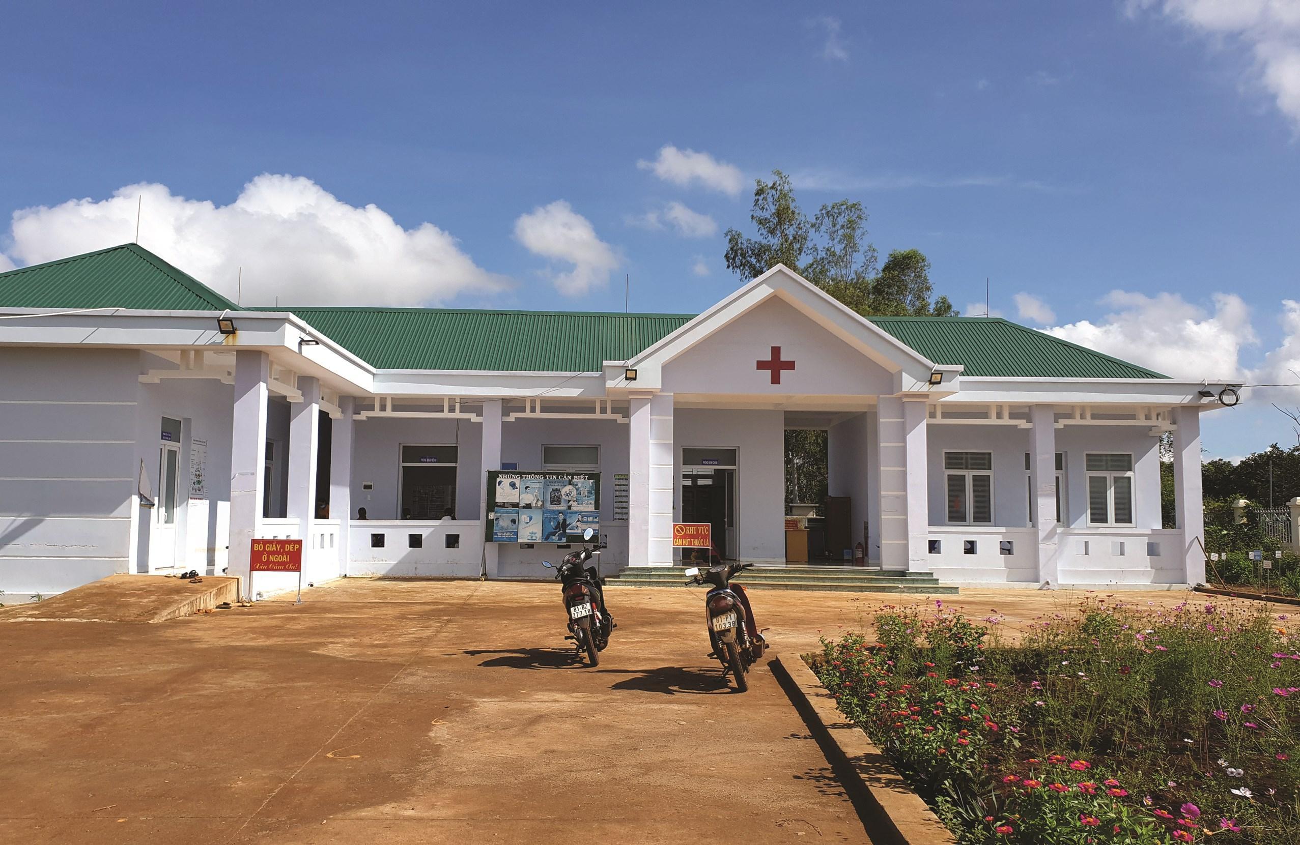 Trạm Y tế xã Ia Pếch, huyện Ia Grai (Gia Lai) được xây mới từ nguồn vốn vay ADB.