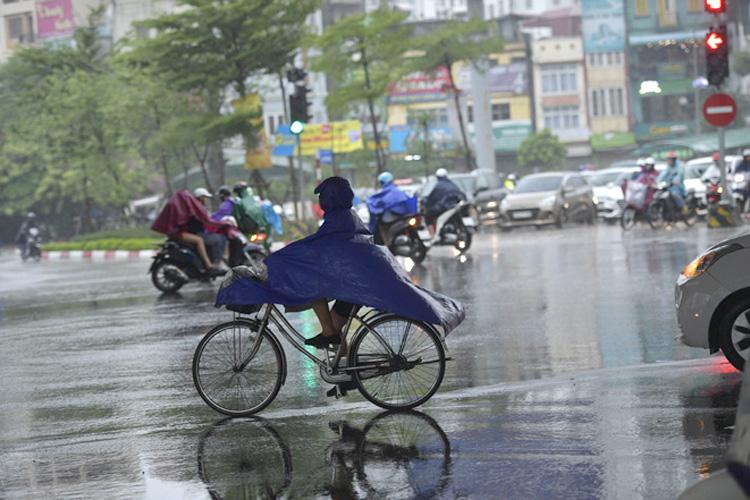 Hà Nội có mây, có mưa rào và dông vài nơi.