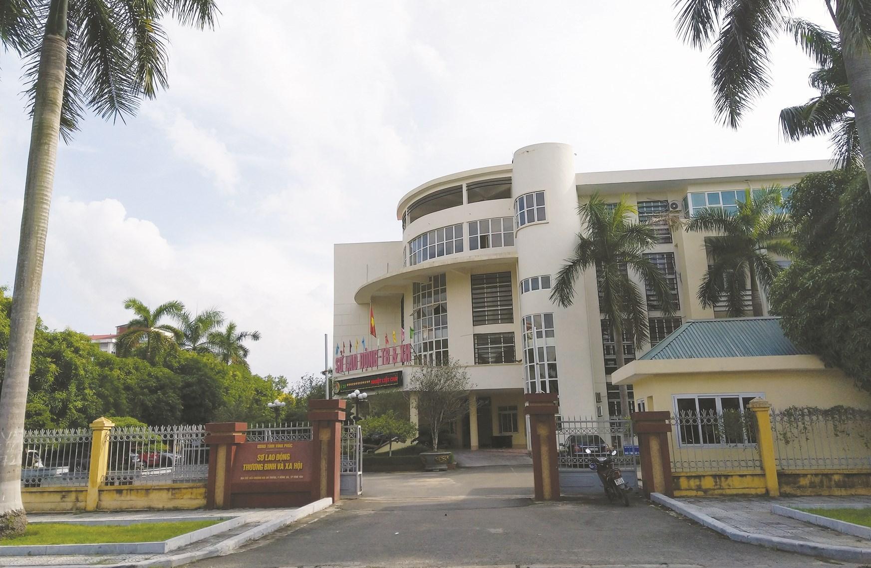 Trụ sở Sở LĐTB&XH tỉnh Vĩnh Phúc nơi bị phản ánh vụ việc
