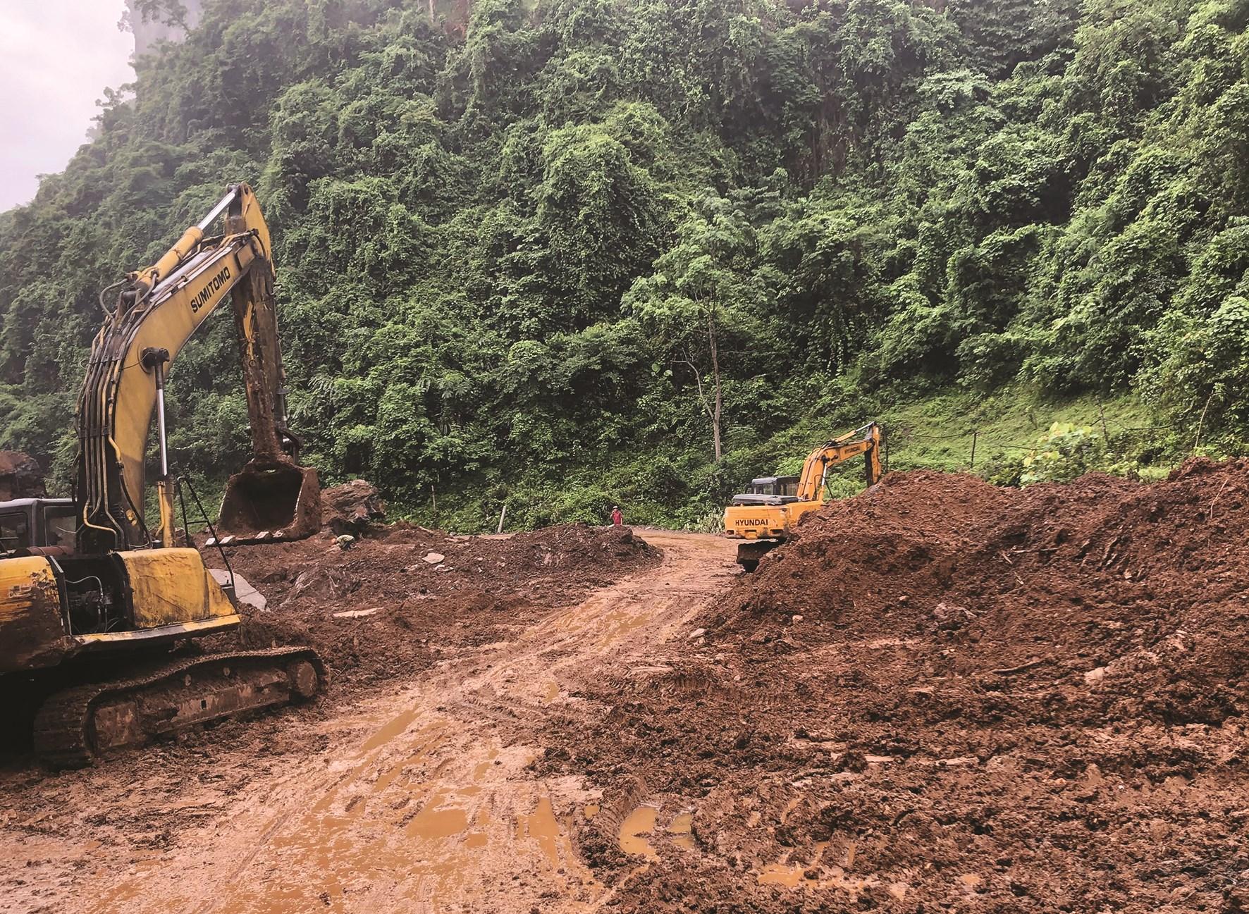 Nguy cơ từ sạt lở đất luôn hiện hữu và là nỗi lo của người dân Bắc Kạn trong mùa mưa bão.